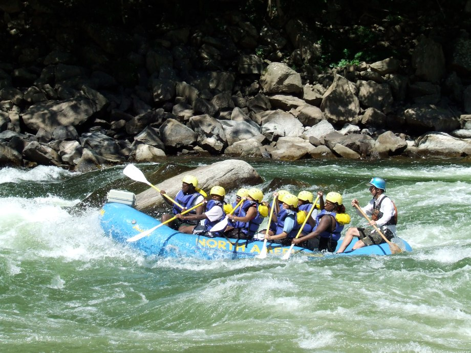 Whitewater rafting The New River